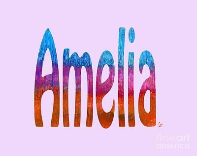 Digital Art - Amelia by Corinne Carroll