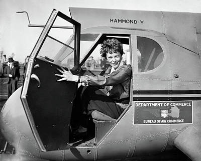Photograph - Amelia Earhart At The Controls Of A Stearman-hammond Y-1 Monopla by Doc Braham