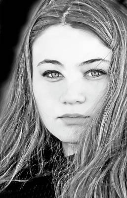 Photograph - Amelia In Black And White by Bill Jonscher