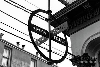 Photograph - Amen Street Charleston by John Rizzuto