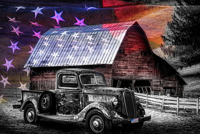 Photograph - America America God Shed His Grace On Thee Black And White With  by Debra and Dave Vanderlaan