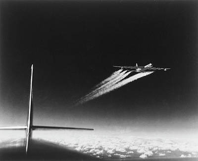 Photograph - American B-36 Bomber Leaving Vapor by Margaret Bourke-white