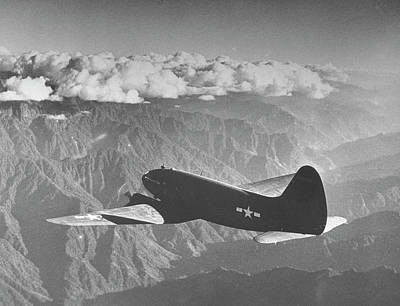Flying Photograph - American C-46 Transport Flying The Hump by William Vandivert
