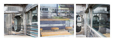 Photograph - American Diner Triptych - by Julie Weber