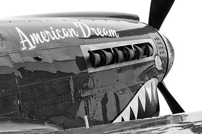 Photograph - American Dream In Black And White by Chris Buff