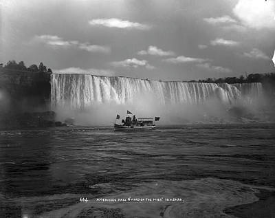 Photograph - American Falls And The Maid Of The Mist by The New York Historical Society