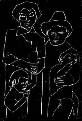 Digital Art - American Family 2 by Artist Dot