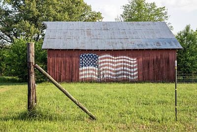 Photograph - American Flag Barn In Kentucky  by John McGraw