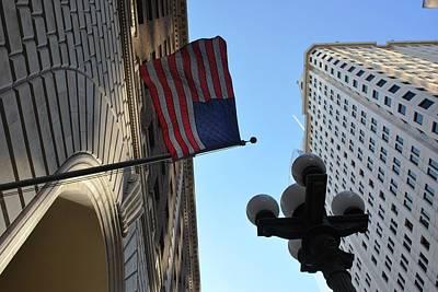 Photograph - American Flag Downtown La by Matt Harang