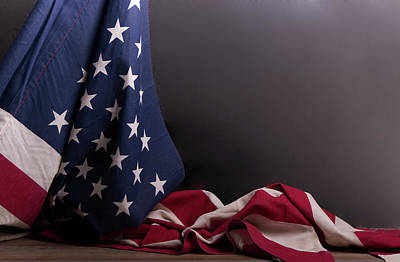 Photograph - American Flag Draped On Itself by Vincent Billotto