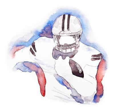 Painting - American Footbal Player By #mahsa Watercolor - Png by Mahsa Watercolor Artist
