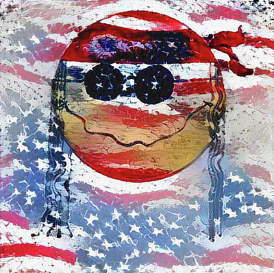 Photograph - American Hippie Face by Bill Cannon