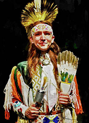 Painting - American Indian Dancer by Joan Reese