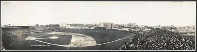 Sports Paintings - American League Park, New York 1910 by Celestial Images
