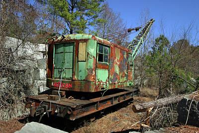 Photograph - American Locomotive Crane by Joseph C Hinson Photography