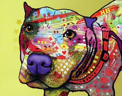 Painting - American Staffordshire by Dean Russo Art