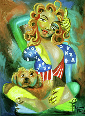 Painting - American Woman by Anthony Falbo