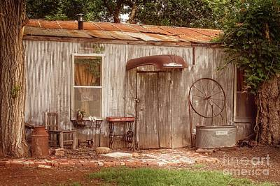 Photograph - Americana Metal Shed  by Imagery by Charly