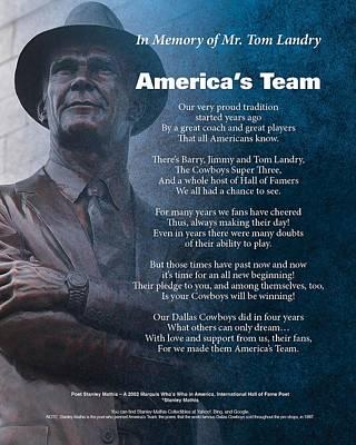 Digital Art - America's Team Poetry Art by Stanley Mathis