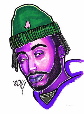 Drawing - Amine Purple by Maia Micou
