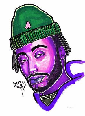 Drawing Drawing - Amine Purple by Maia Micou
