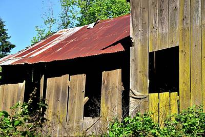 Jerry Sodorff Royalty-Free and Rights-Managed Images - Amity Road Barn Three Windows by Jerry Sodorff