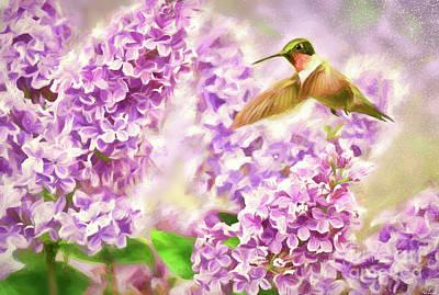Thomas Kinkade - Amongst The Lilacs by Tina LeCour