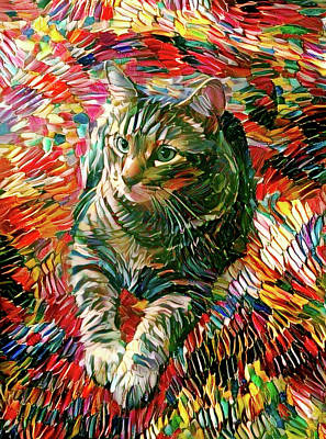 Digital Art - Amos Dreams In Color by Peggy Collins