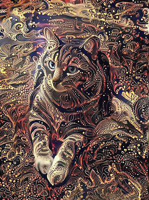 Digital Art - Amos In Paisley by Peggy Collins