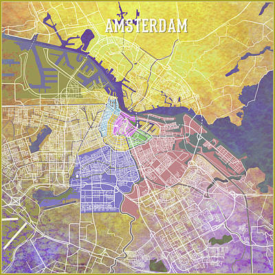 Digital Art - Amsterdam by Gary Grayson
