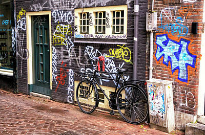 Photograph - Amsterdam Graffiti Wall by John Rizzuto
