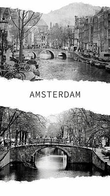Photograph - Amsterdam Poster 1 by Jenny Rainbow