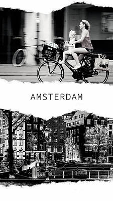 Photograph - Amsterdam Poster 2 by Jenny Rainbow