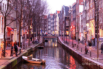 Photograph - Amsterdam Red Light District by John Rizzuto