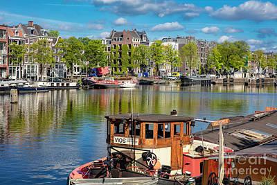 Photograph - Amsterdam's Houseboats by David Harwood