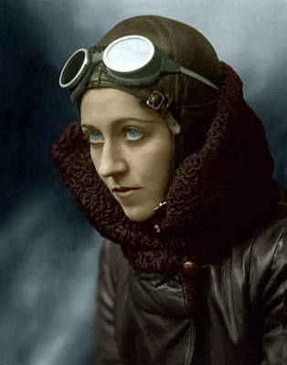 Photograph - Amy Johnson English Aviator by Doc Braham