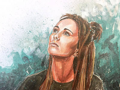 Painting - Amy Shark by Joel Tesch