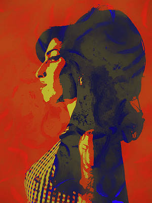 Painting - Amy Winehouse Pop Icon by Dan Sproul