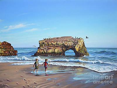 Painting - An Adventure On The Beach by Joe Mandrick