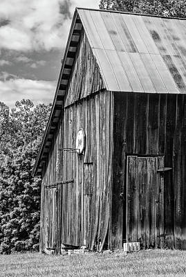 Landscapes Royalty-Free and Rights-Managed Images - An American Barn bw by Steve Harrington