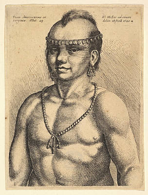 Drawing - An American From Virginia  by Wenceslaus Hollar