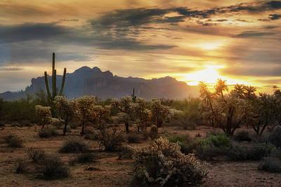 Photograph - An Autumn Desert Sunrise  by Saija Lehtonen