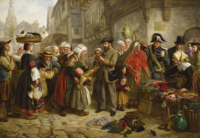 Painting - An English Artist Collecting Costumes In Brittany by Edward Hughes