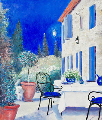 Painting - An Evening In Provence by Jan Matson
