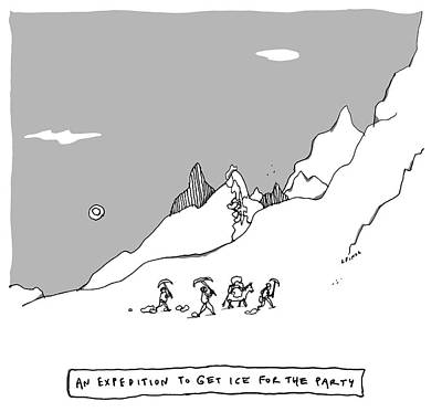 Drawing - An Expedition To Get Ice For The Party by Liana Finck