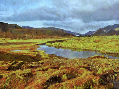 Digital Art - An Icelandic Landscape Of Indescribable Beauty. by Digital Photographic Arts
