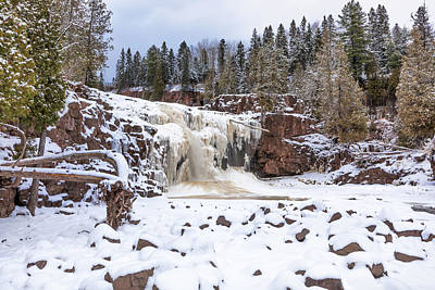 Photograph - An Icy Gooseberry Lower Falls by Susan Rissi Tregoning
