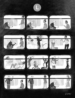 Ride Drawing - An L Train Love Story by Will McPhail