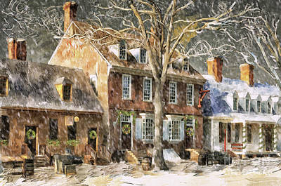 Digital Art - An Old Fashioned Christmas by Lois Bryan