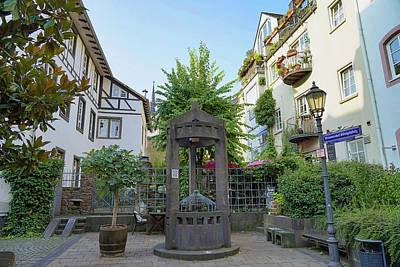 Impressionist Landscapes - An Old Well In Koblenz Germany by Rick Rosenshein